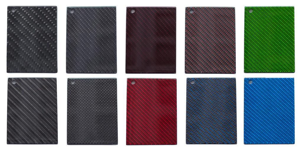 Carbon in verschiedenen Farben